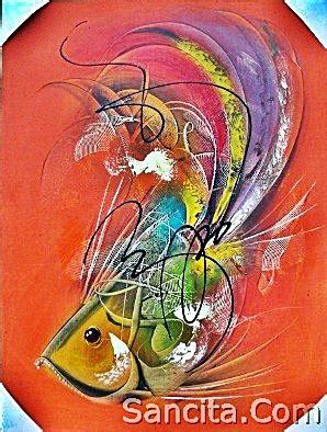Ikan Keranjang Bali at 02 lukisan abstrak ikan sukawati