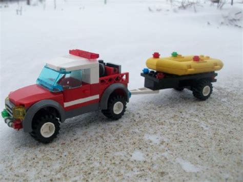 lego boat and truck 2009 chevy brush truck boat trailer a lego 174 creation by