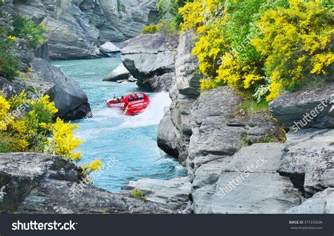 speed boat queenstown nz queenstown new zealand november 18 tourists enjoy a