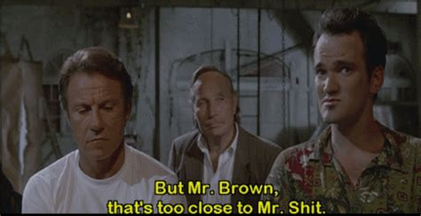 mr brown reservoir dogs quentin tarantino gif find on giphy