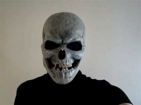 How To Make A Skull Mask Out Of Paper - skull mask i made