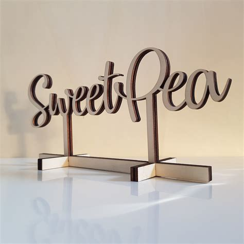 bespoke wooden table names for weddings, parties and
