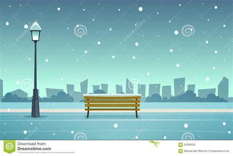Utah House Plans winter city park stock vector image 56280930
