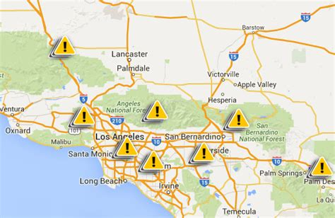 california power outage map scattered blackouts hit southern california after heatwave