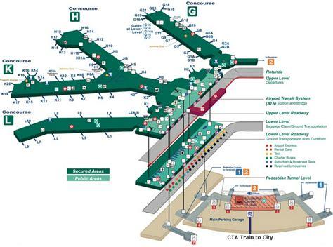 ohare map o hare terminal 3 map gibbonsbeefarm