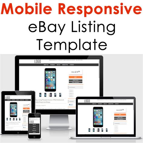 ebay product listing template ebay template responsive professional listing design auction html mobile 2017 ebay