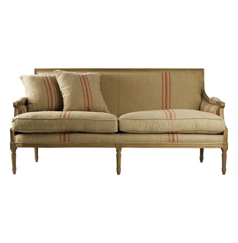 country sofa st germain french style red stripe linen louis xvi sofa sofa