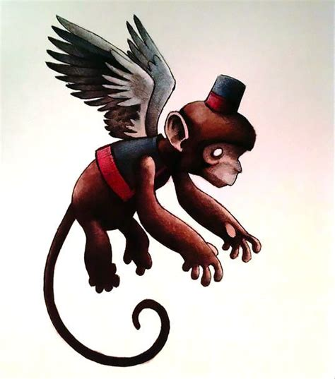 flying monkey tattoo flying monkey design
