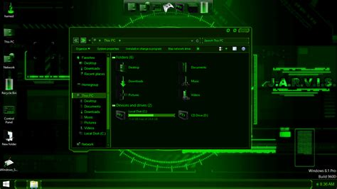 jarvis theme for windows 8 1 free download jarvis green skinpack skinpack customize your digital