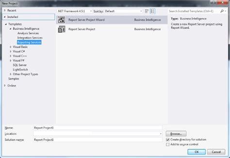 ssrs basics set up visual studio to write a new ssrs