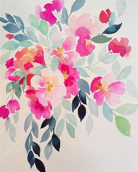 pretty painted floors with flower designs best 25 watercolor flowers ideas on pinterest flower