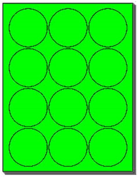 240 Labels 2 1 2 Inch Round Flourescent Neon Green 12 Labels Per Sheet Use Avery 5294 Template 2 Label Template 20 Per Sheet