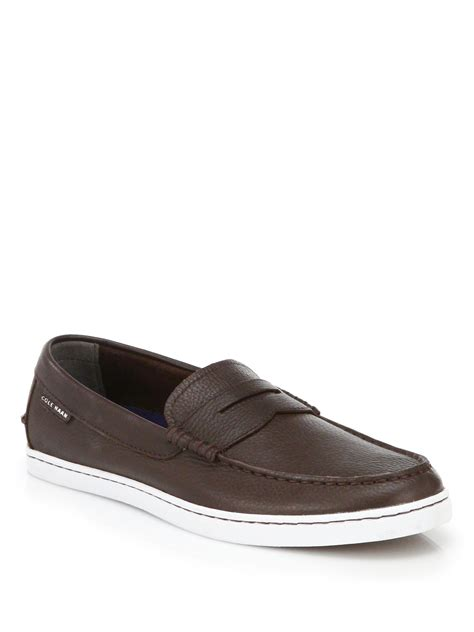 cole han loafers cole haan pinch leather loafers in brown for