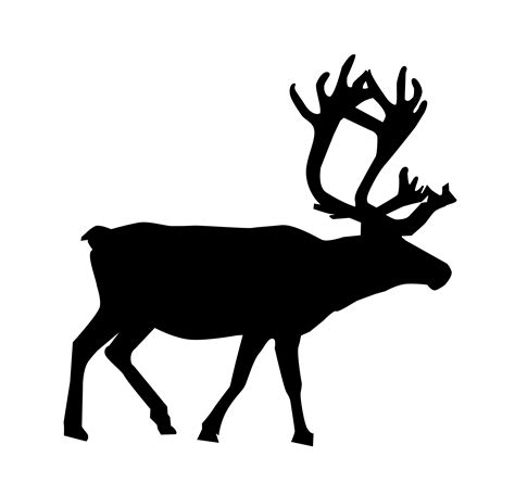 reindeer silhouette template reindeer silhouette www imgkid the image kid has it