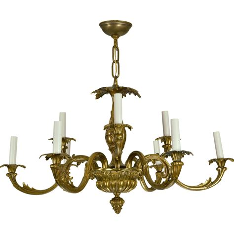 vintage chandeliers vintage brass baroque chandelier from tolw on ruby