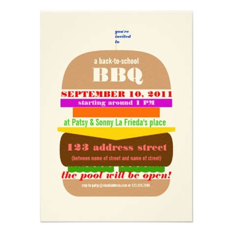 cookout invitation template cheeseburger bbq cookout invitation template