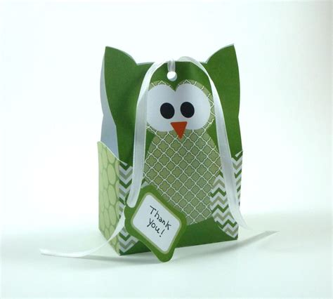 paper bag owl pattern owl gift bag template green by littlestuffme craftsy