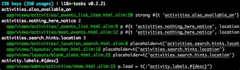 yaml pattern matching i18n tasks 可以帮助您找到并管理缺失和未使用的翻译 ruby开发社区 ctolib码库