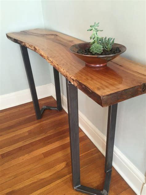 live edge sofa table legs sofa table entryway table live edge slab bar table console