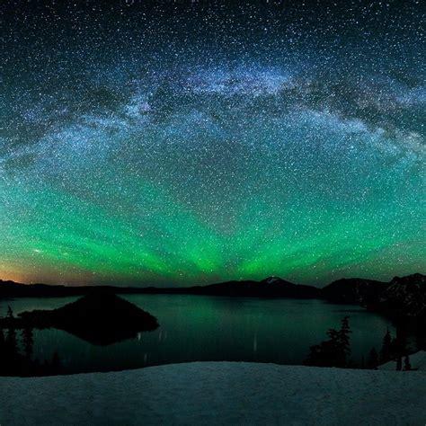 stars aurora borealis ipad wallpaper nature ipad