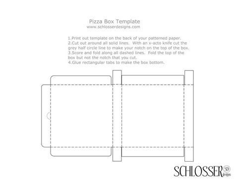 free cardboard box templates pizza box template