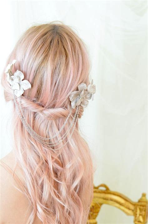 Set Of 2 Flower Hair Comb bridal hair comb floral hair combs wedding