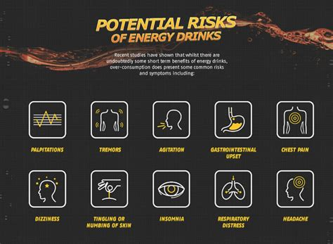 energy drink health risks infographic the risks of energy drinks and what they re