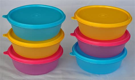Tupperware Modular Bowl tupperware modular bowl 800ml set of 6 pink yellow and