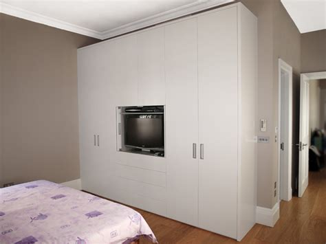 Bespoke Fitted Bedroom Furniture 2 Built In Bespoke Fitted Wardrobe Tv White Wood Modern Bedroom Soapp Culture