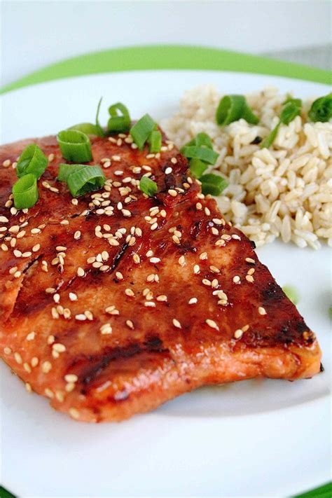 sweet soy glazed grilled salmon food pinterest