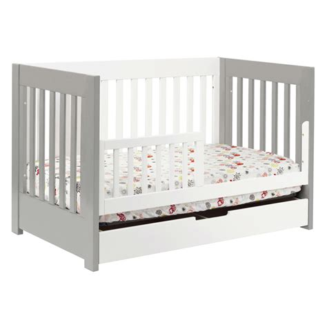 Grey And White Mercer Convertible Crib By Babyletto Gray Convertible Crib