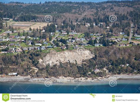 wonder house coupeville whidbey island puget sound best places to whidbey island landslide aerial editorial photo image