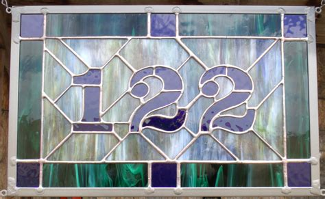 House Numbers Pattern | custom stained glass address plaque house numbers
