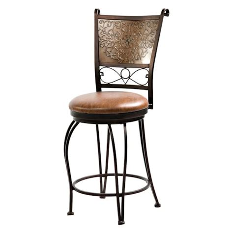 24 Inch Bar Stool With Back Powell Bar Stools Tables 24 Inch Bronze With Muted Copper Sted Back Bar Stool Wayside