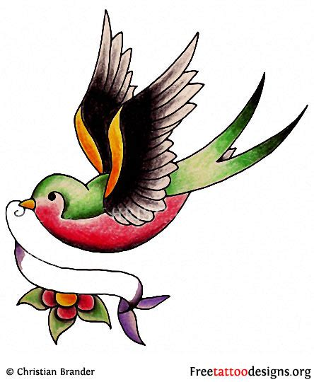 classic swallow tattoo design meaning and pictures of designs