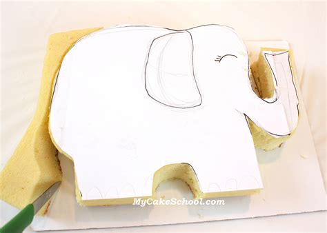 elephant cake template elephant with a cupcake a tutorial my cake school