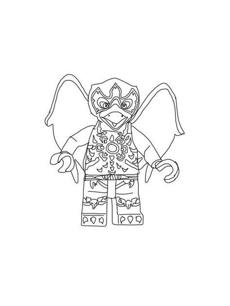 lego chima coloring page razar raven my free