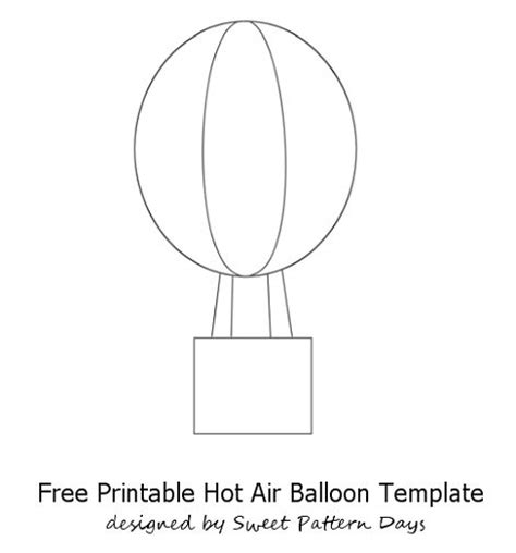 air balloon template printable air balloon craft template printables