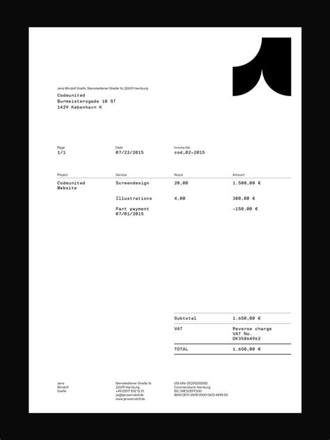 Invoice Letterhead Design Best 20 Invoice Design Ideas On Invoice Layout Freelance Invoice Template And