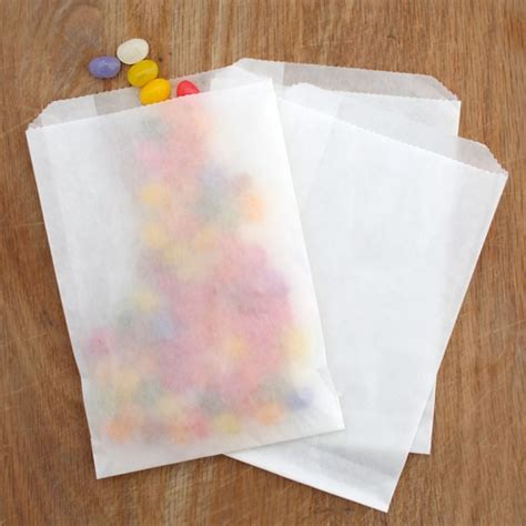 10 waxed milkywhite glassine bags 6 sizes pipii