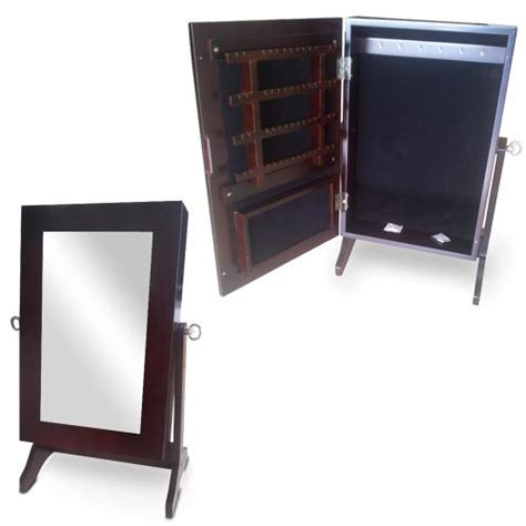 table top jewelry armoire wood table top jewelry box mirror jewelry cabinet free