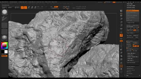 tutorial zbrush rock rock tutorial zbrush youtube