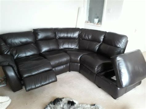 5 seater corner sofa and chair in brown leather in hull