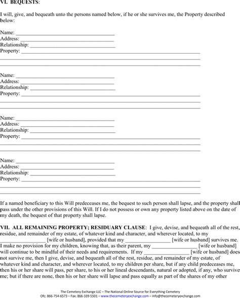 Download Virginia Last Will And Testament Form For Free Page 2 Formtemplate Virginia Last Will And Testament Template