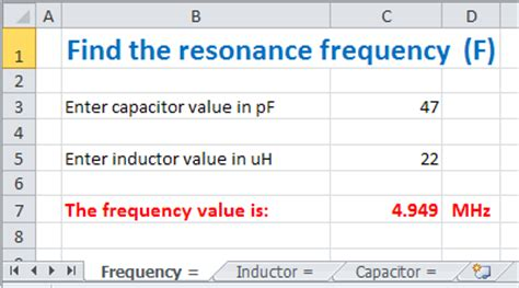 calculate capacitor resonant frequency hb9amo find the value of a capacitor or an inductor with the minivna