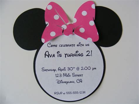 Minnie Mouse Template Invitations minnie mouse invitation template birthday ideas