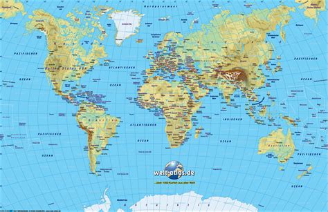 world map maps world map physical