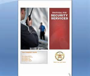 security company template security services for security business use
