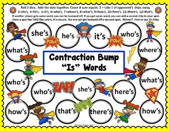 printable contraction poster contraction games and posters by bloomabilities tpt