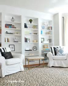 Bookshelves Look Built In Create The Look Of High End Built In Bookcases On An Empty